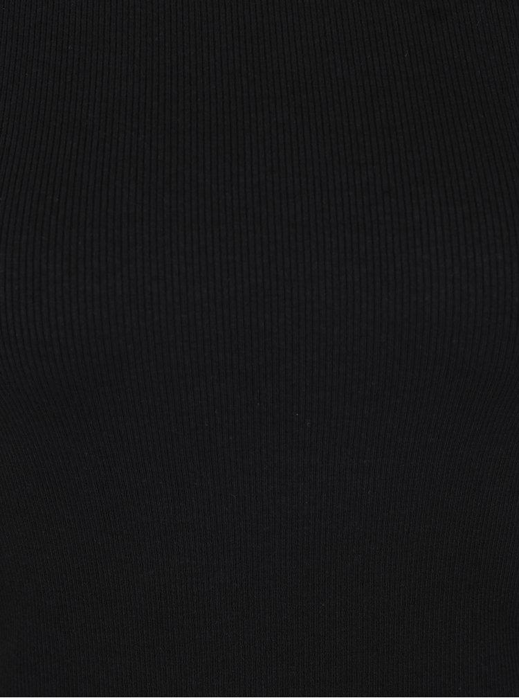 Top negru Haily´s Carlita cu decolteu bărcuță