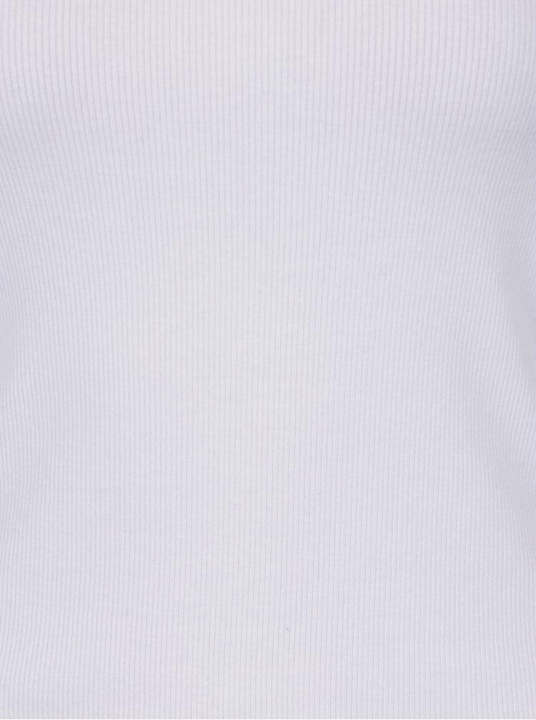 Bílé tričko s lodičkovým výstřihem Haily´s Carlita