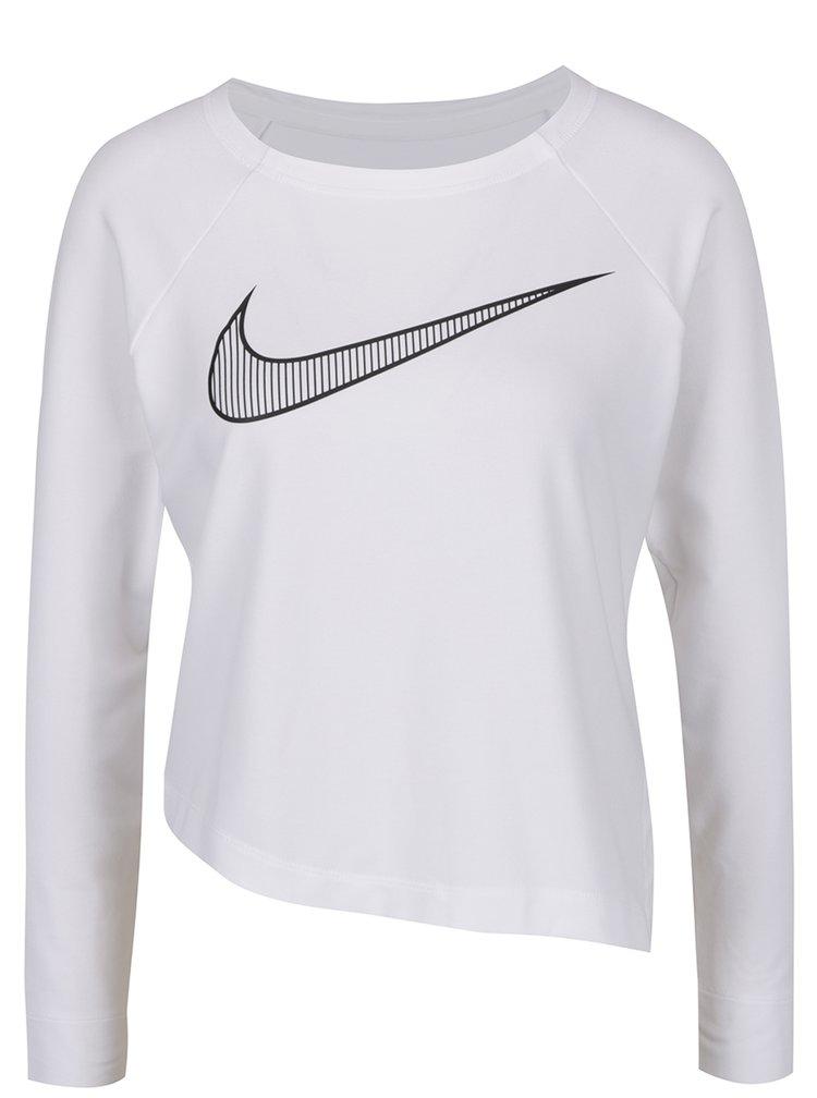 Bluza alba Nike cu tiv asimetric