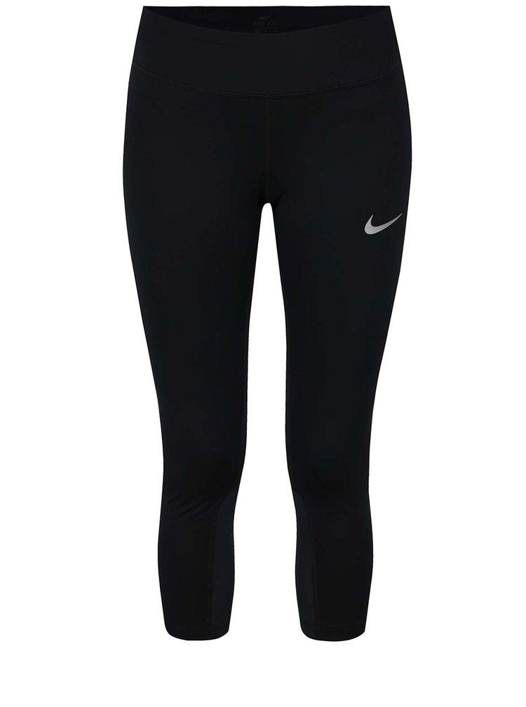 Colanți negri cu buzunar pentru femei Nike