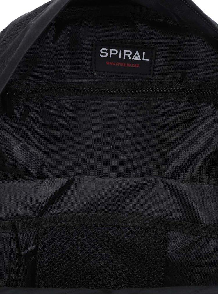 Černo-bílý vzorovaný unisex batoh Spiral OG Prime 18 l