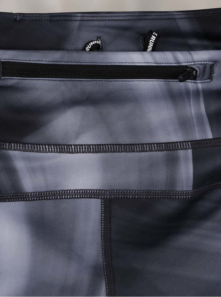 Šedé dámské funkční kraťasy s jemně žíhaným vzorem Nike