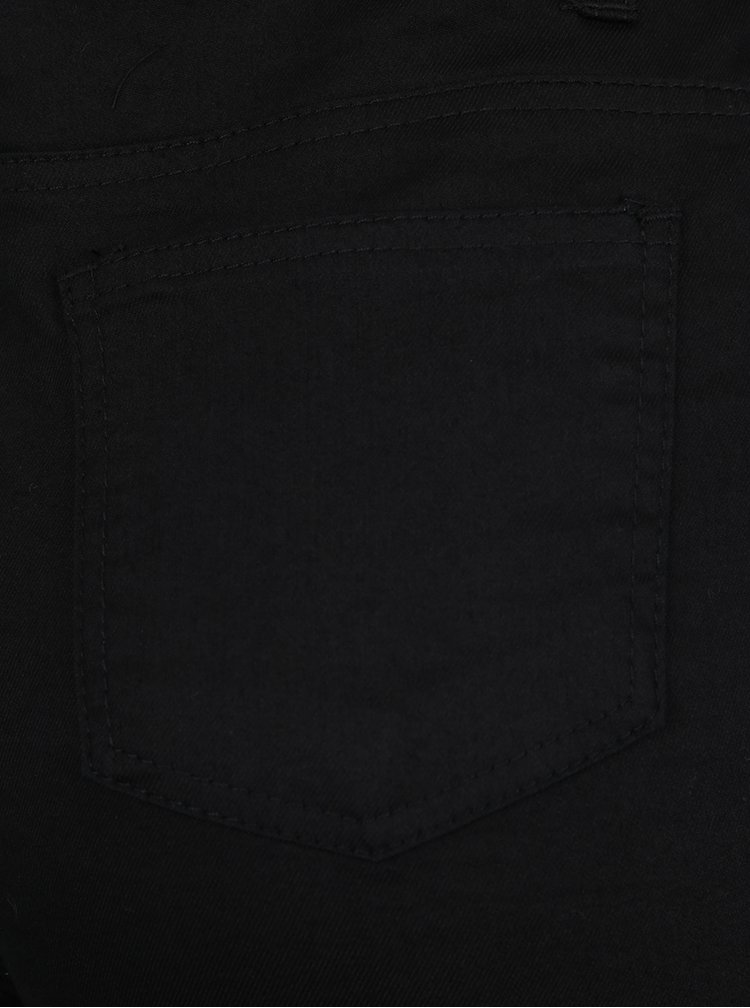 Pantaloni scurti negri Haily´s Debby cu talie inalta