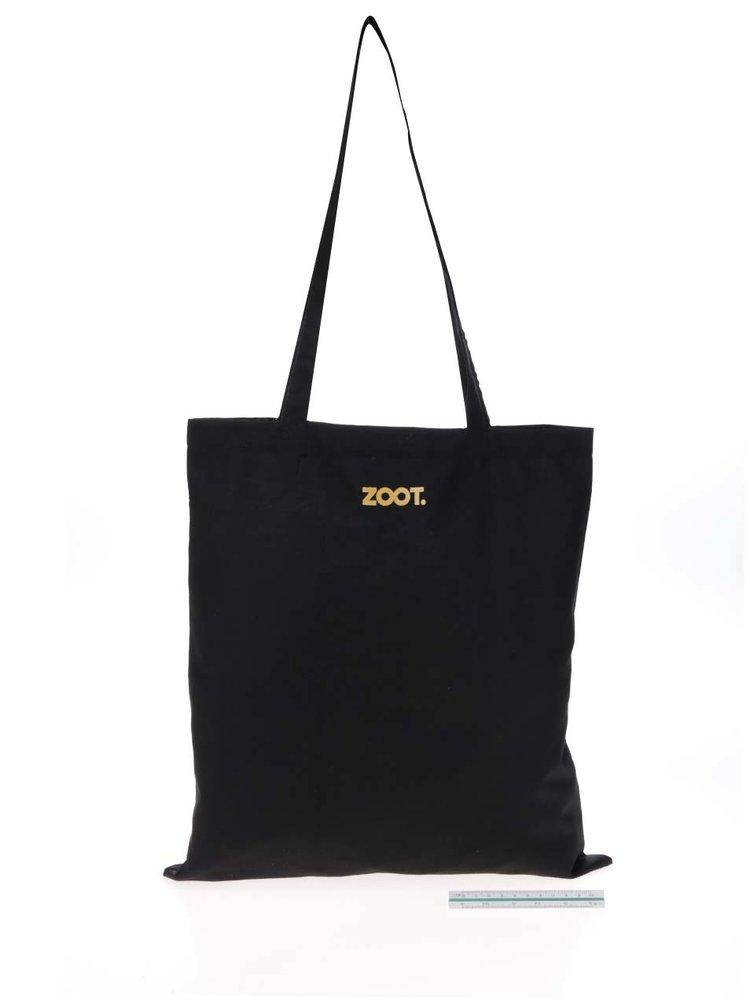 Černá unisex plátěná taška s potiskem Gott My Life