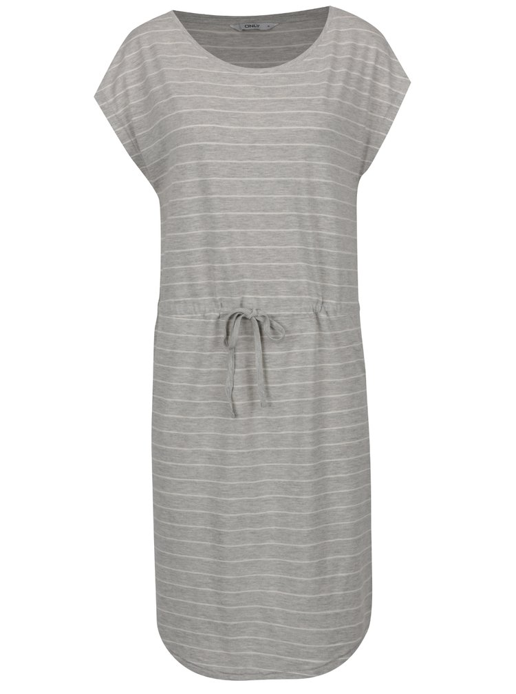 Sivé pruhované šaty ONLY May