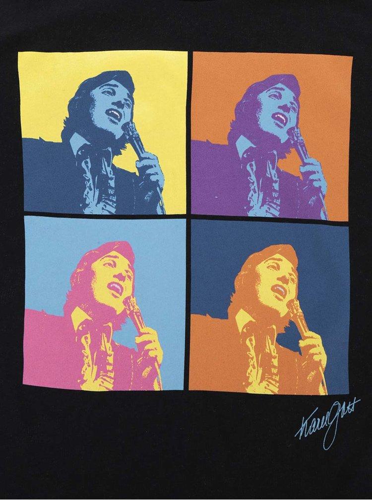 Černé pánské tričko Gott My Life Warhol