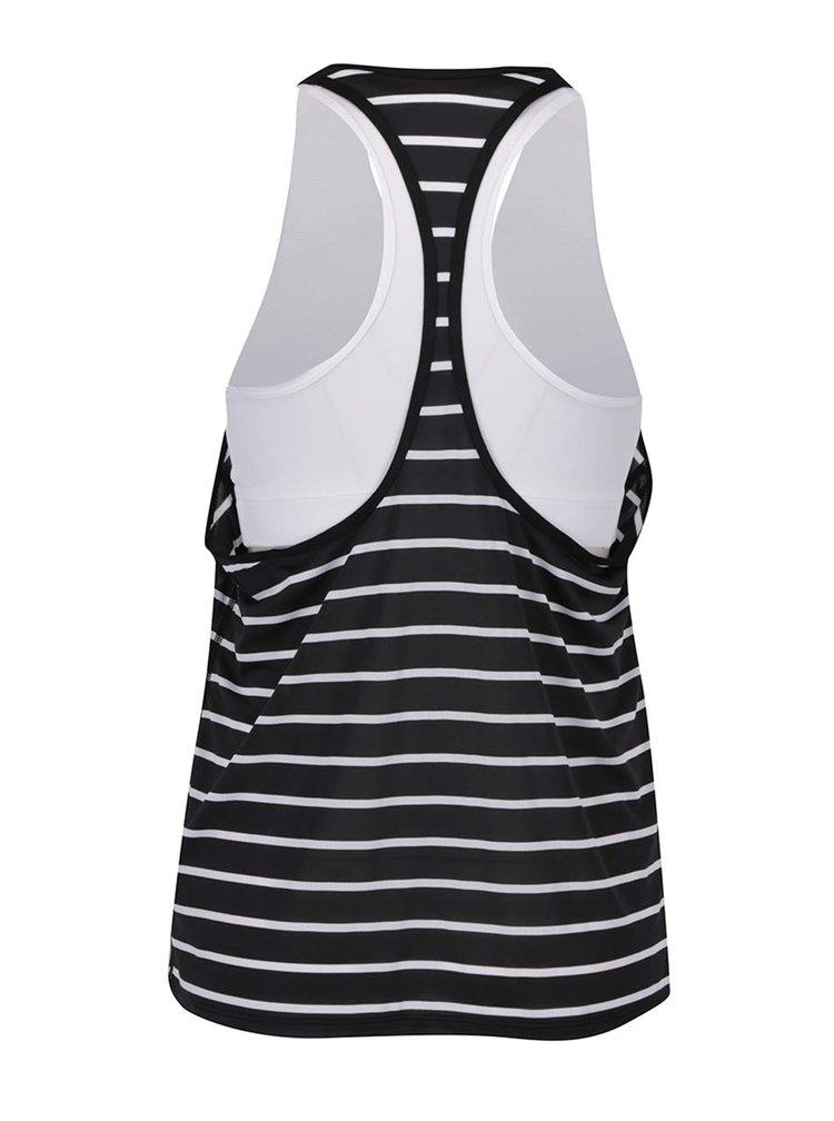 Bílo-černé dámské pruhované funkční tílko 2v1 Nike