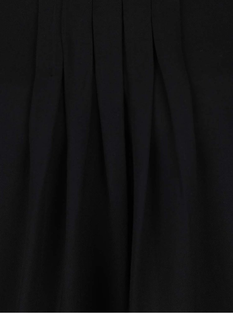 Top negru Haily´s Lina cu pliuri