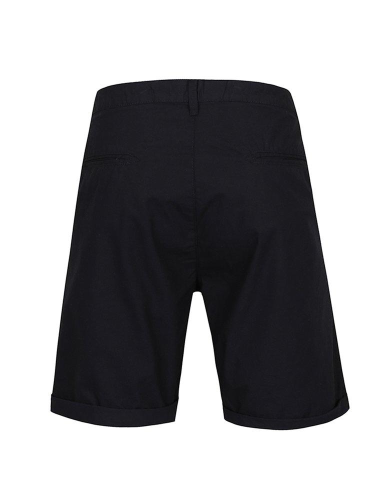 Pantaloni scurți chino albastru închis Broadway Ewing cu terminații îndoite