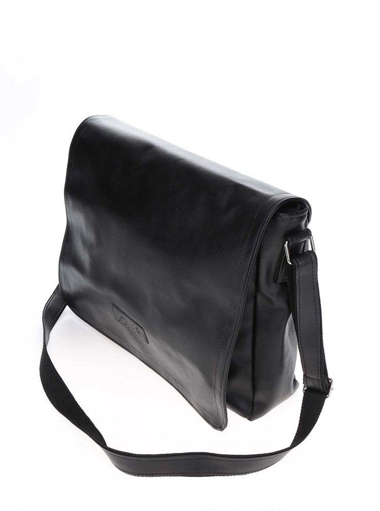 Černá pánská lesklá taška Solier