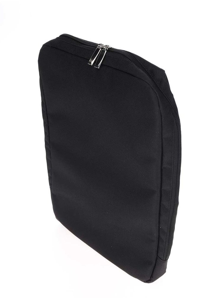 Černý lesklý pánský batoh Solier