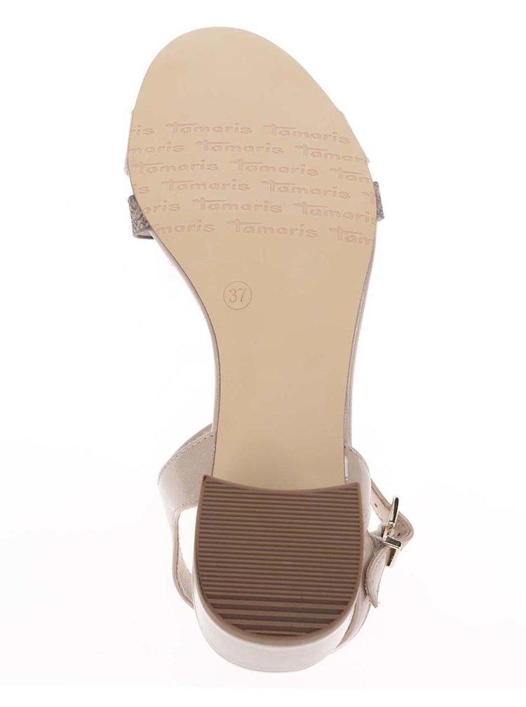 Béžové sandálky na podpatku Tamaris