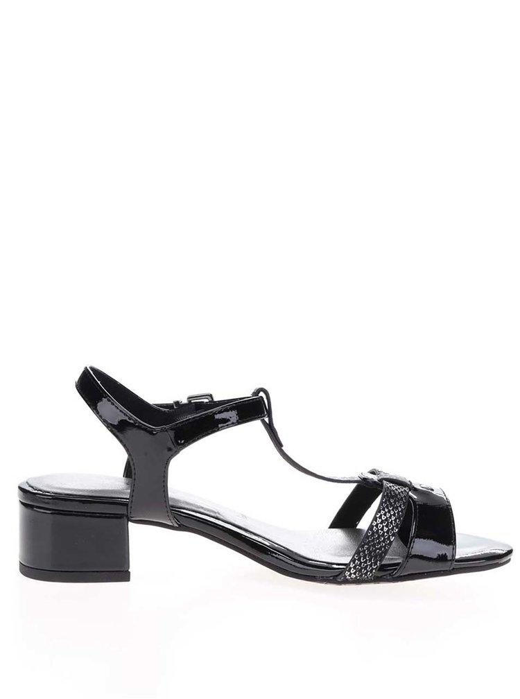 Černé sandálky na podpatku Tamaris