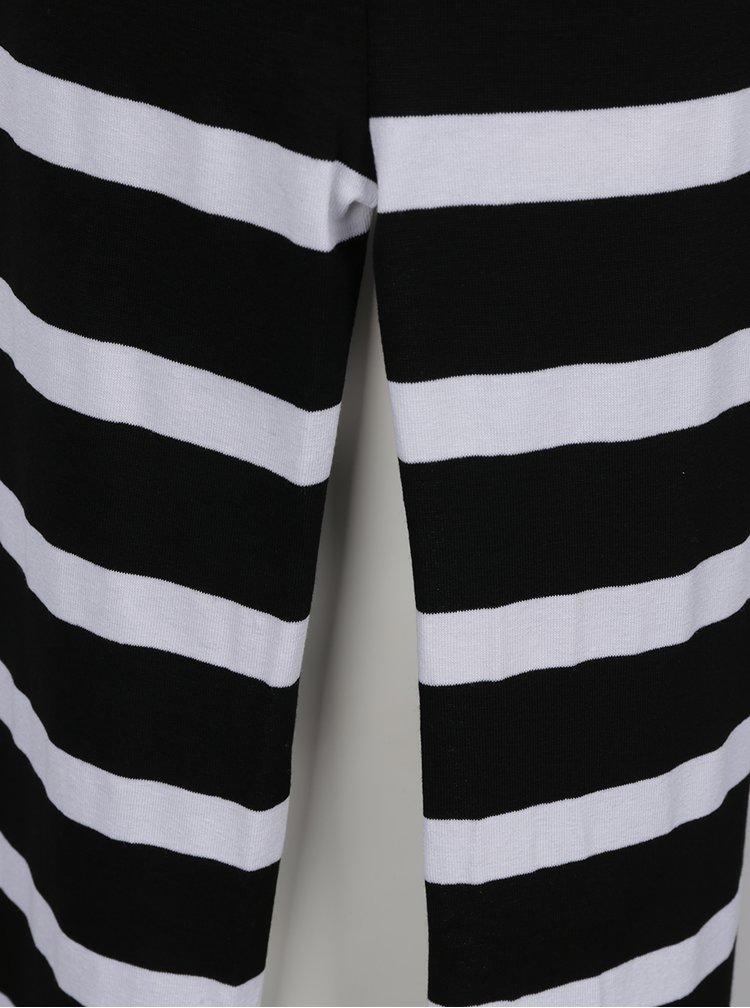 Černo-bílé pruhované midišaty Haily´s Carlita