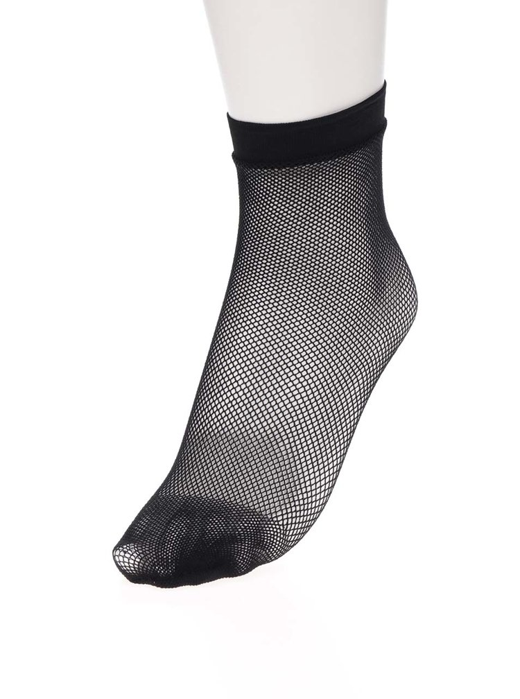Șosete tip plasă negre Haily´s Fishnet S