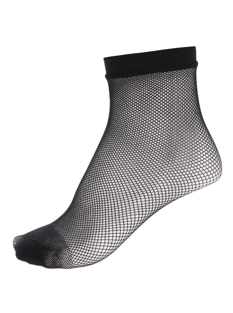 Černé síťované ponožky s jemnými oky Haily´s Fishnet S