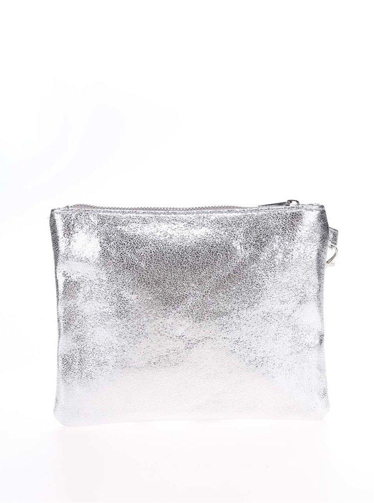 Geanta plic argintie Haily´s Go Crazy cu print