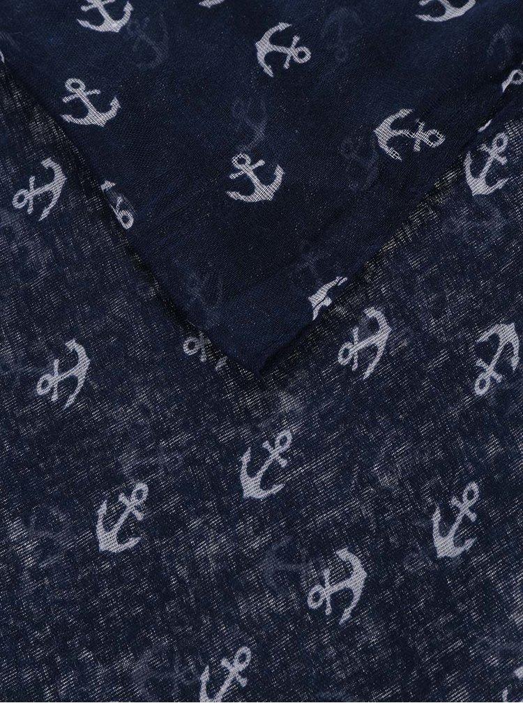 Tmavě modrý šátek s kotvičkami Haily's Loop Anchor