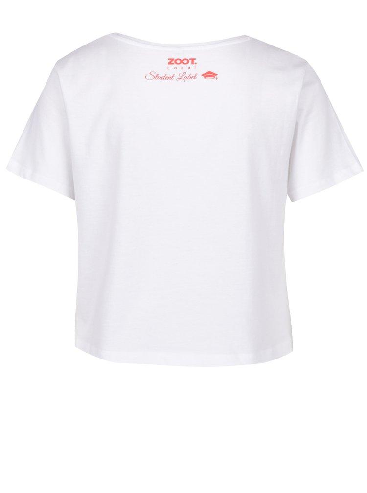 Bílé dámské tričko ZOOT Lokál Školní mlíčko