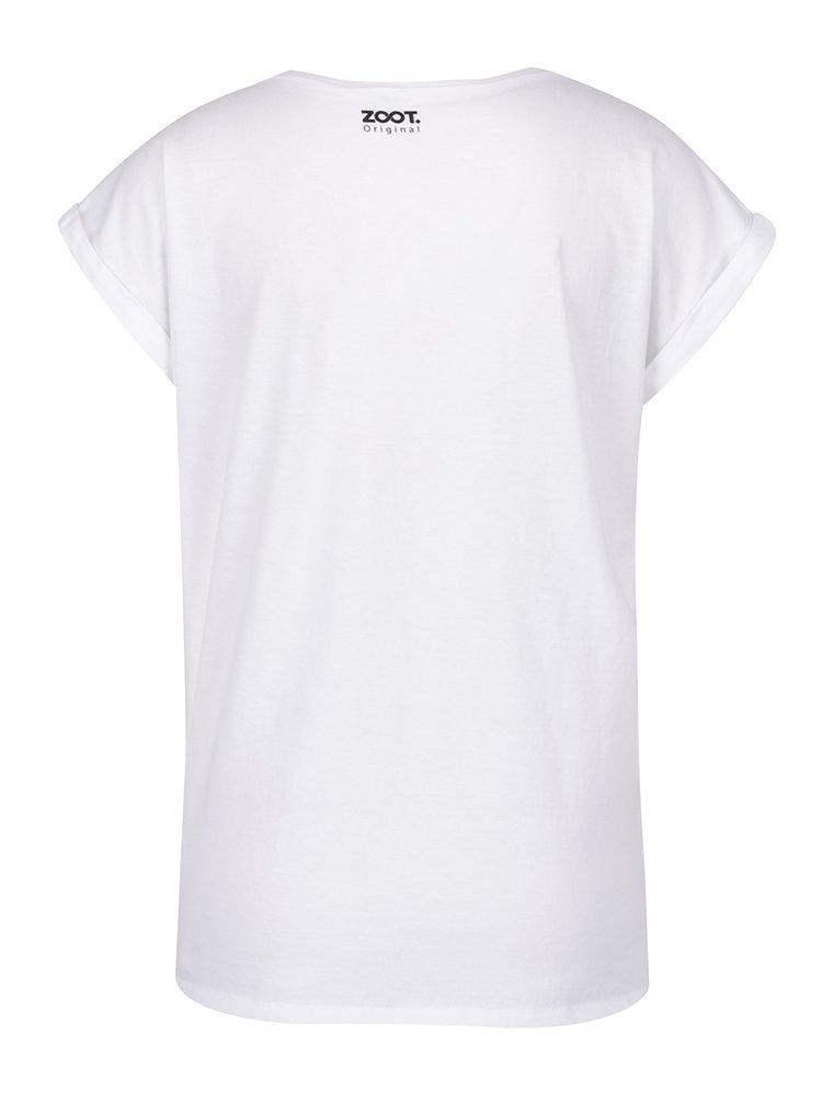 Tricou de damă ZOOT Original Movie Marathon alb