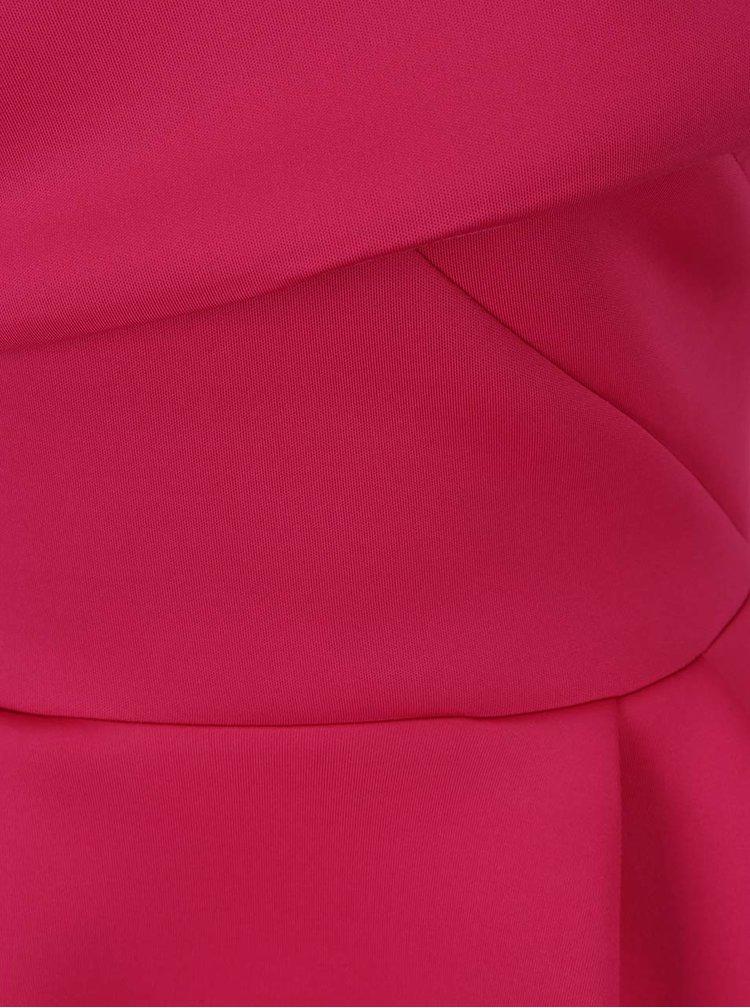 Růžové šaty s překládaným dekoltem Miss Selfridge