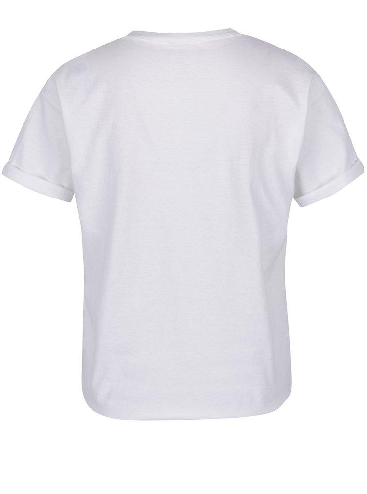 Bílé tričko s krátkým rukávem a potiskem melounu Miss Selfridge Petites