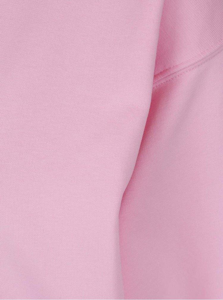 Růžová mikina s véčkovým výstřihem Miss Selfridge