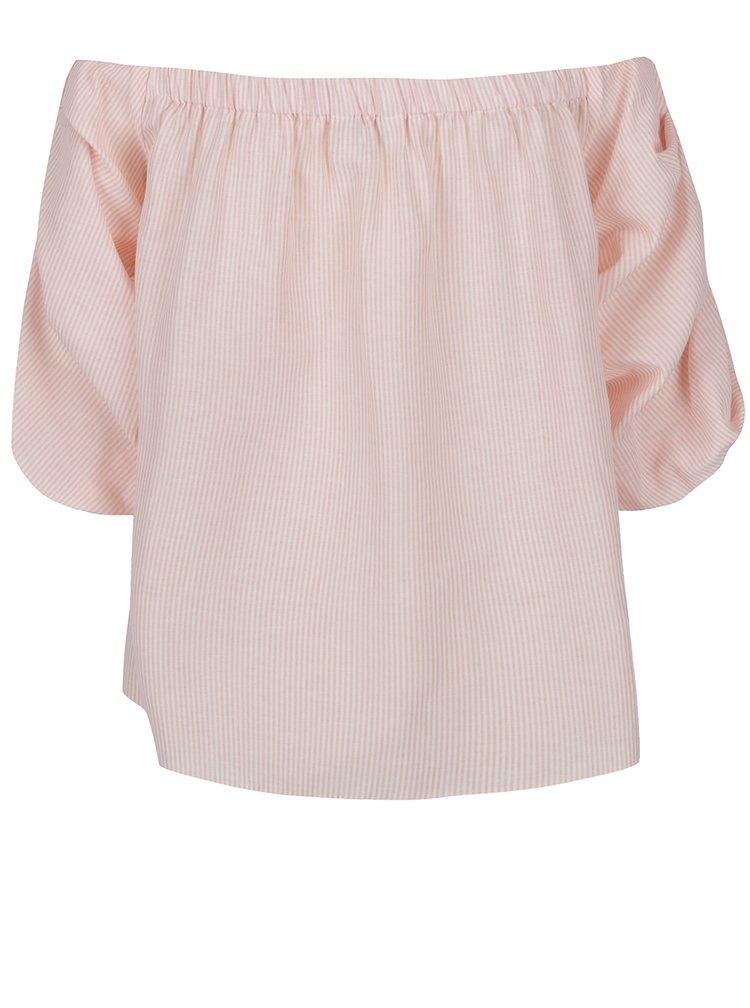 Bluza roz Miss Selfridge cu decolteu pe umeri