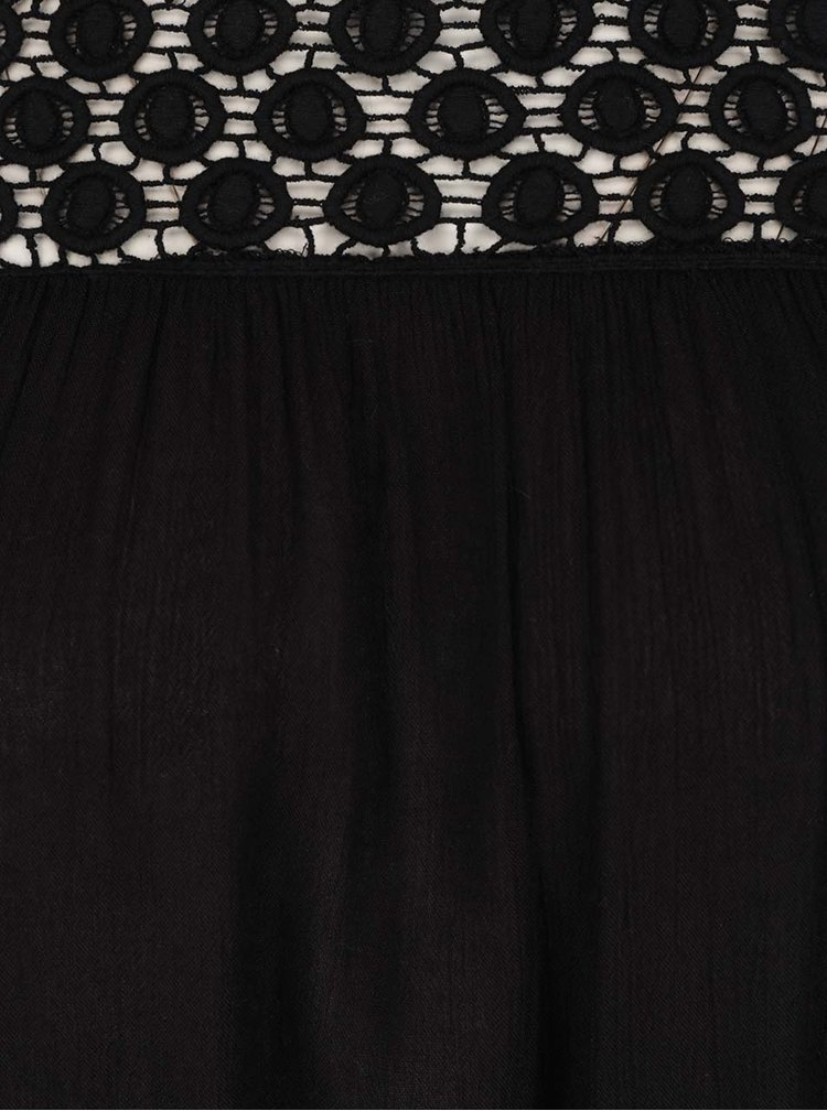 Bluza neagra Miss Selfridge cu dantela si decolteu pe umeri
