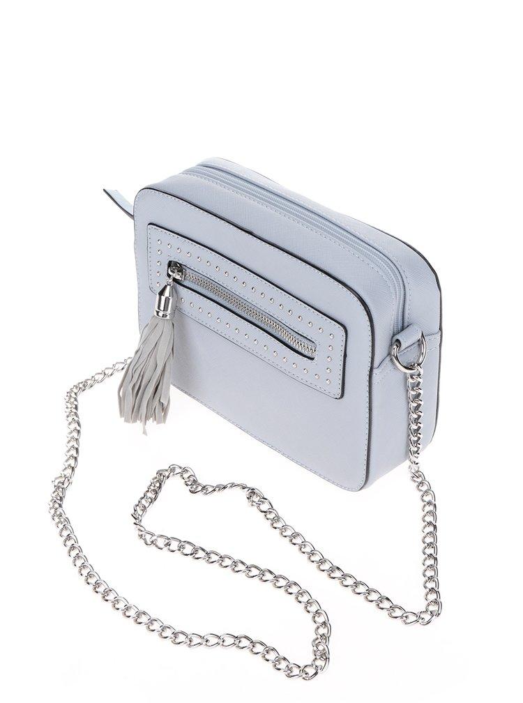 Modrá crossbody kabelka se střapcem Miss Selfridge