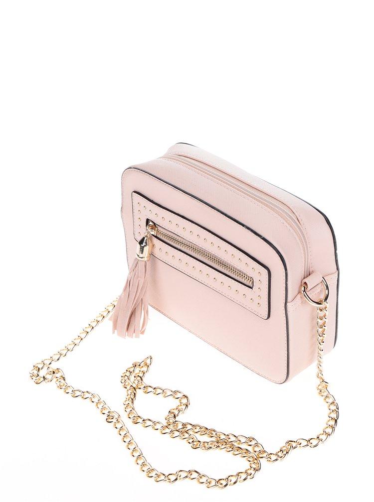 Růžová crossbody kabelka se střapcem Miss Selfridge