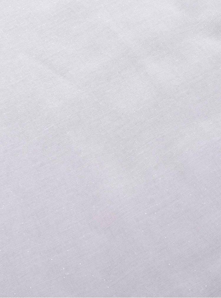 Šedý dutý šátek se třpytkami Haily´s Danny