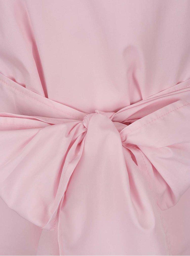 Růžová halenka se zavazováním v pase Miss Selfridge