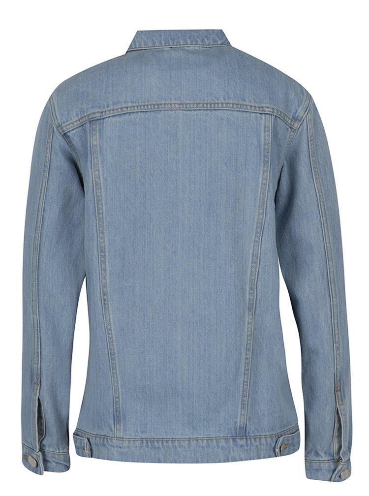 Jacheta albastru deschis din denim Miss Selfridge