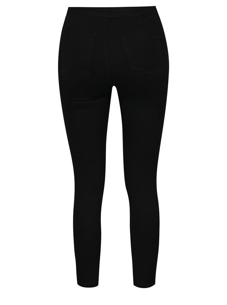 Černé skinny džíny s vysokým pasem Miss Selfridge