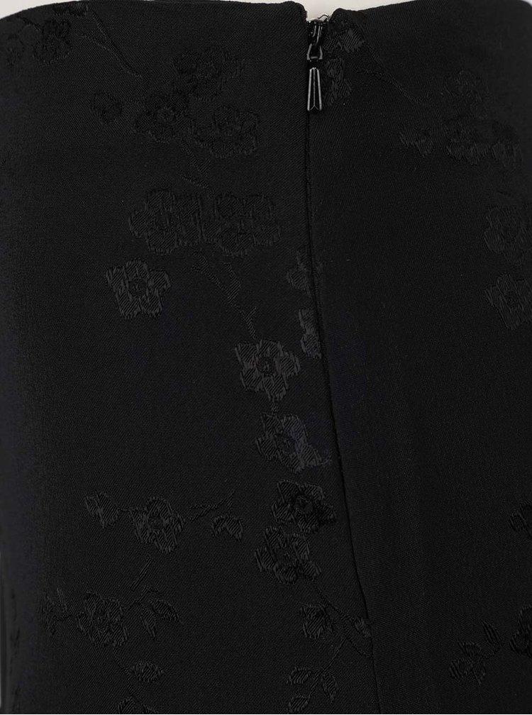 Černé květované kraťasy Miss Selfridge