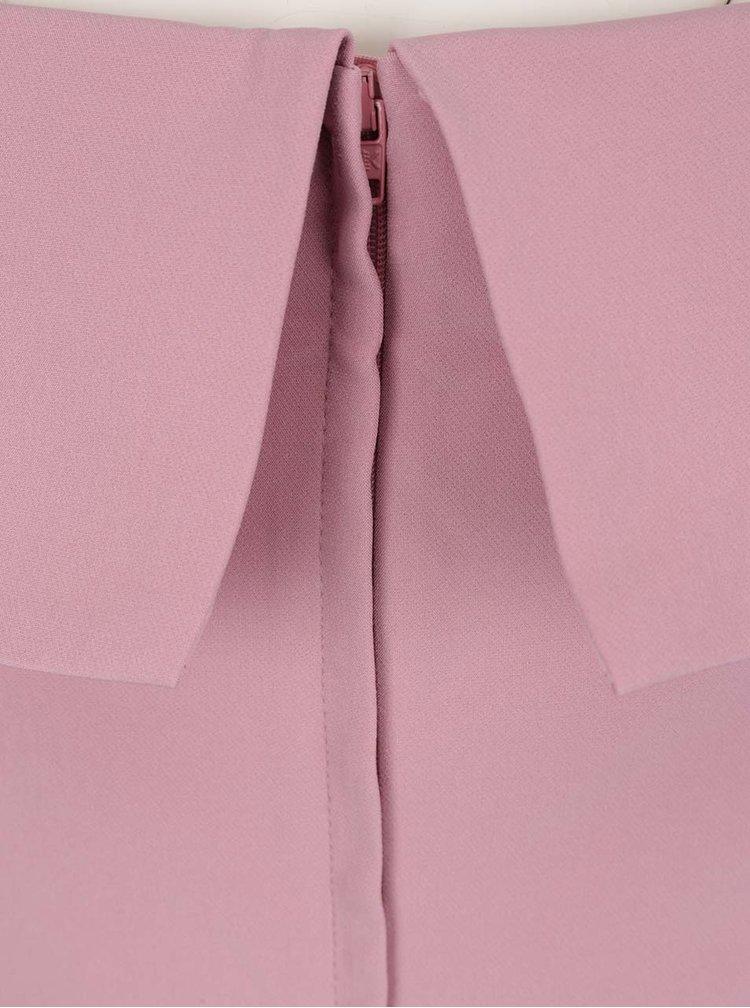 Růžový overal s odhalenými rameny Miss Selfridge