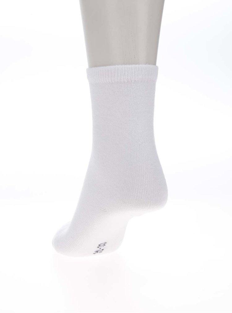 Súprava 5 párov dievčenských ponožiek v ružovej, sivej a bielej farbe name it
