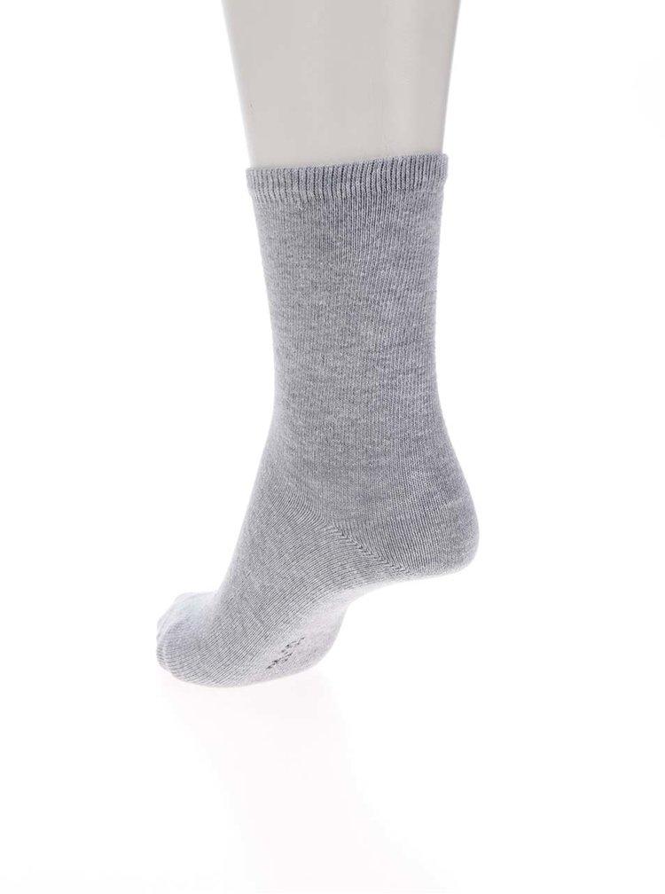 Sada pěti párů holčičích ponožek v šedé a modré barvě name it
