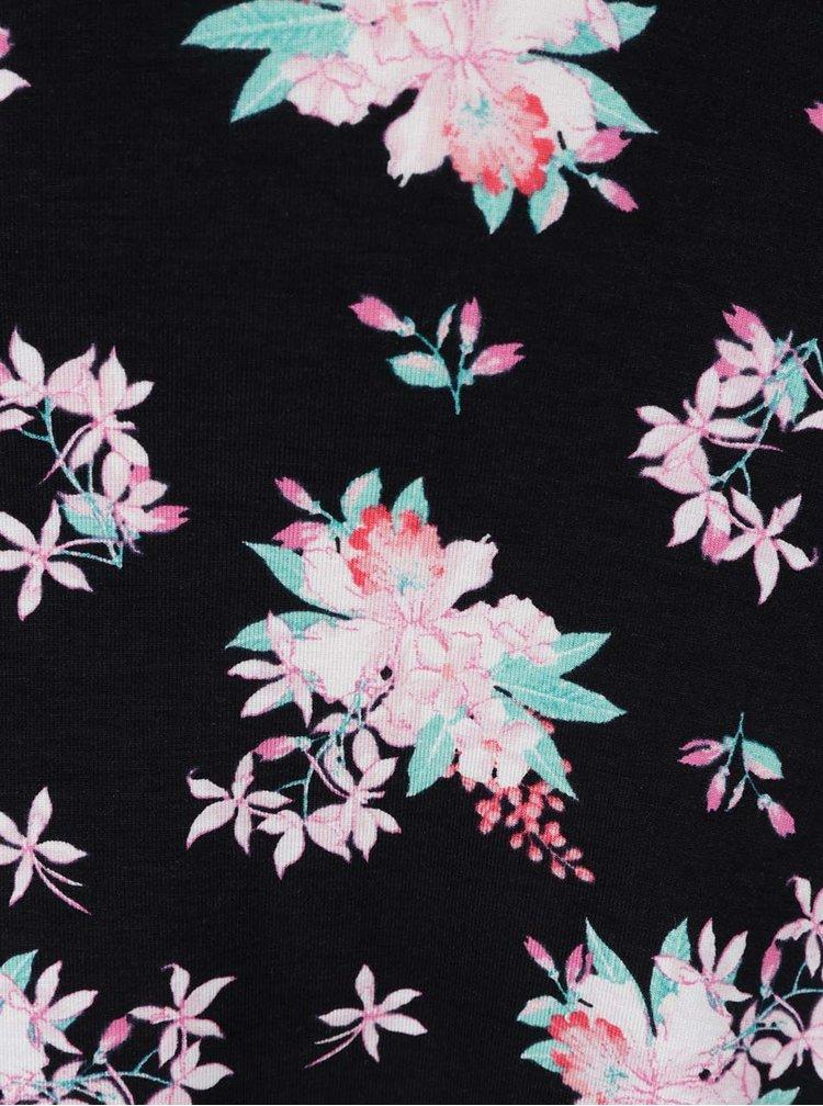 Rochie neagră  TALLY WEiJL cu imprimeu floral