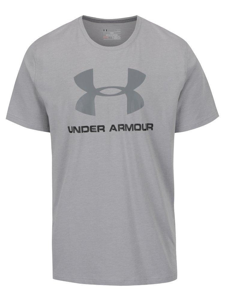 Tricou gri deschis pentru bărbați Under Armour Sportstyle Logo cu print