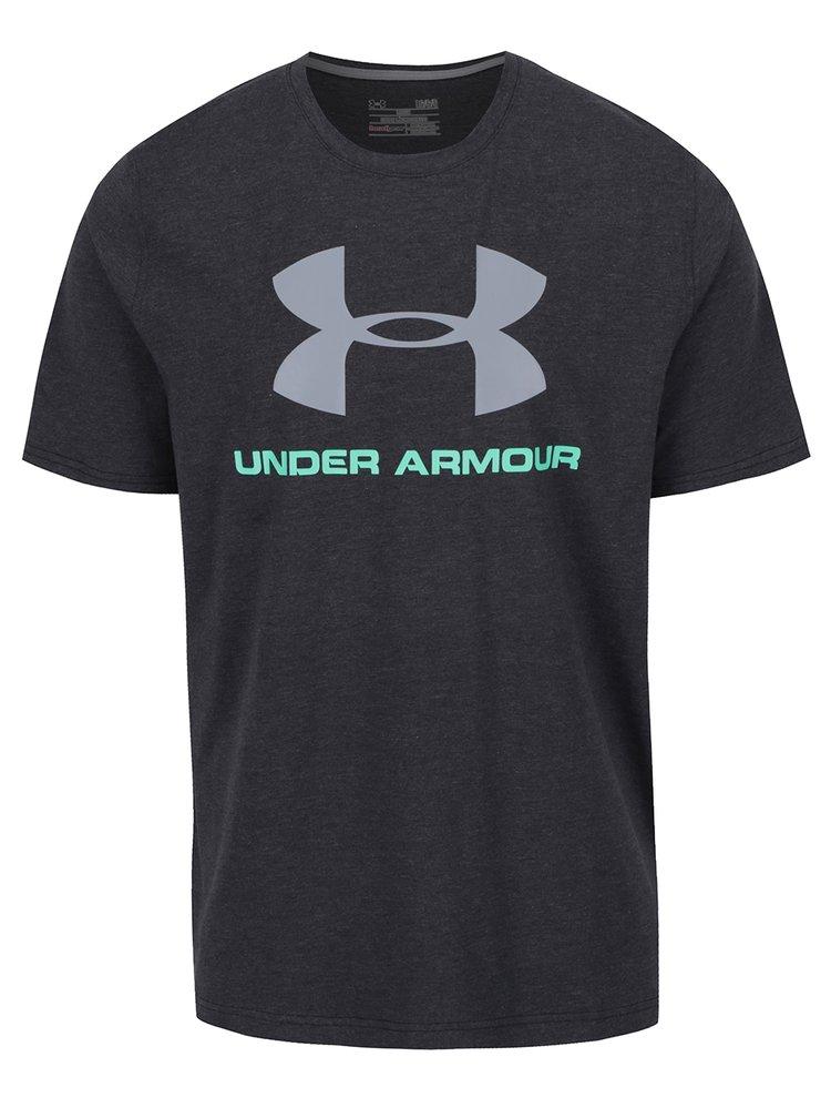Tricou negru pentru bărbați Under Armour Sportstyle Logo cu print