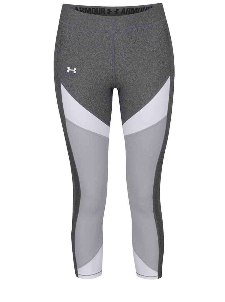 Colanți sport alb&gri Under Armour UA HG Color pentru femei