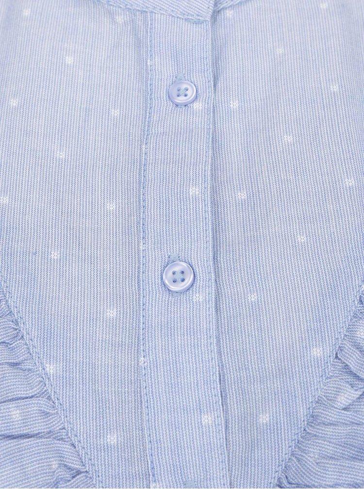 Modrá vzorovaná košile s volánem Jacqueline de Yong Futura