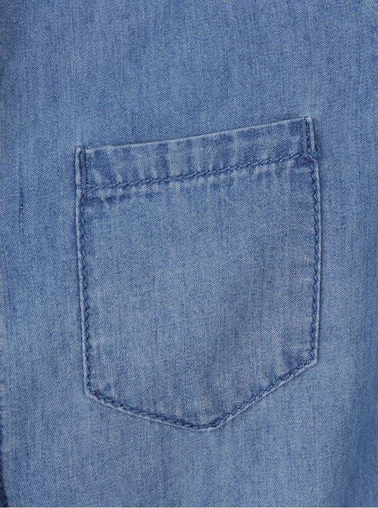 Modré holčičí džínové košilové šaty Asta