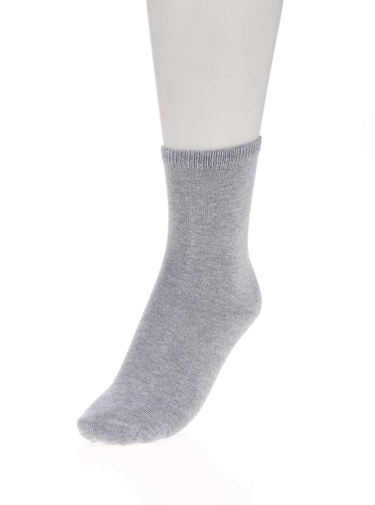 Sada pěti párů holčičích ponožek v šedé, modré a růžové barvě name it Star Sock