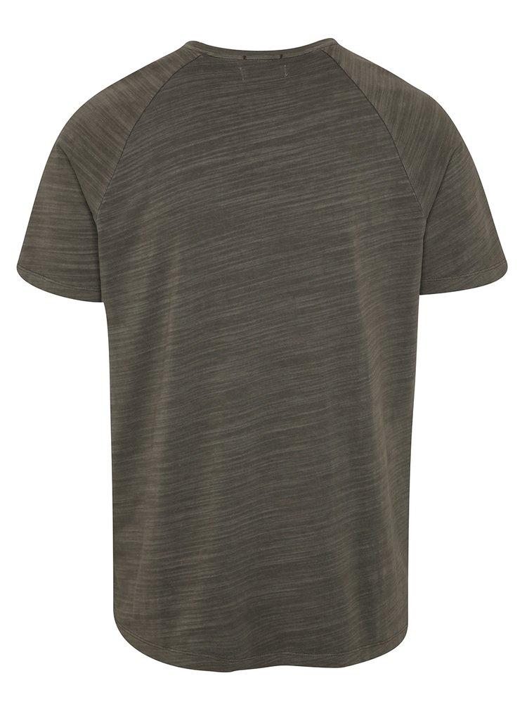 Šedé žíhané triko s krátkým rukávem Selected Homme Dan