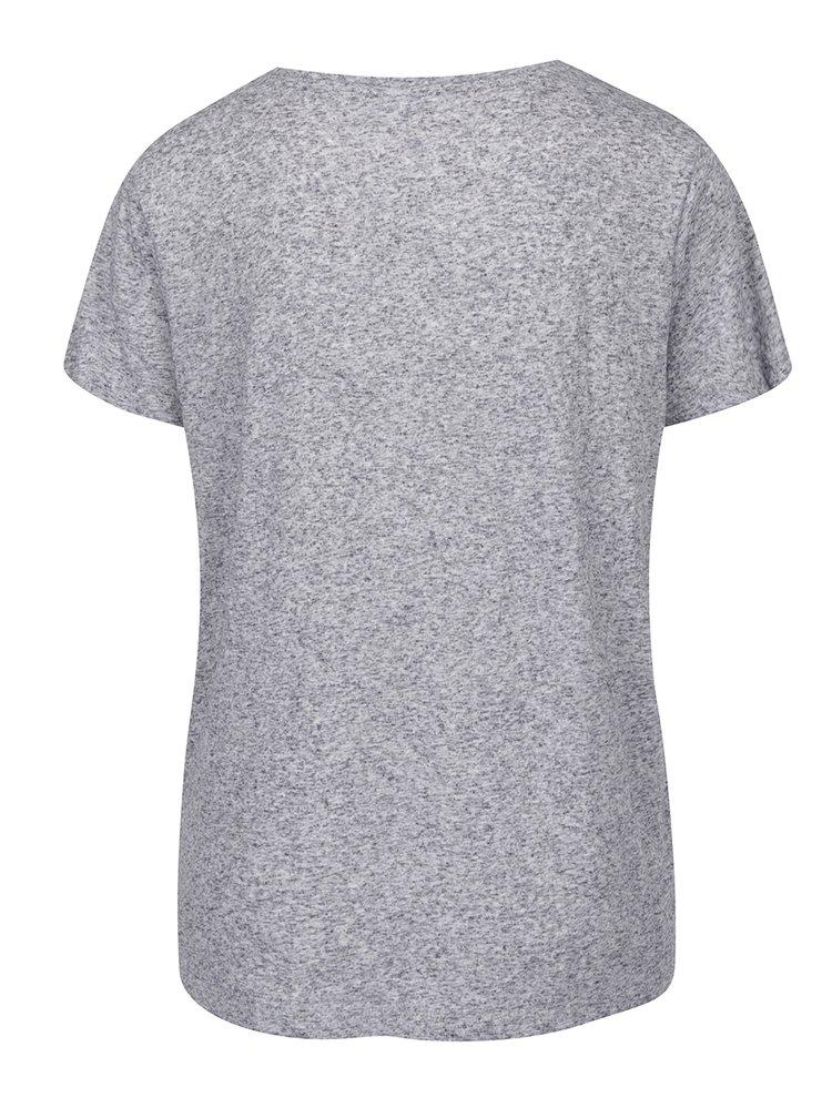 Šedé žíhané tričko s potiskem Jacqueline de Yong Bolette