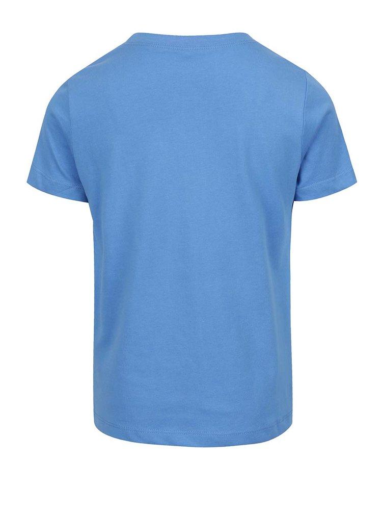 Modré klučičí triko s potiskem Victorhox