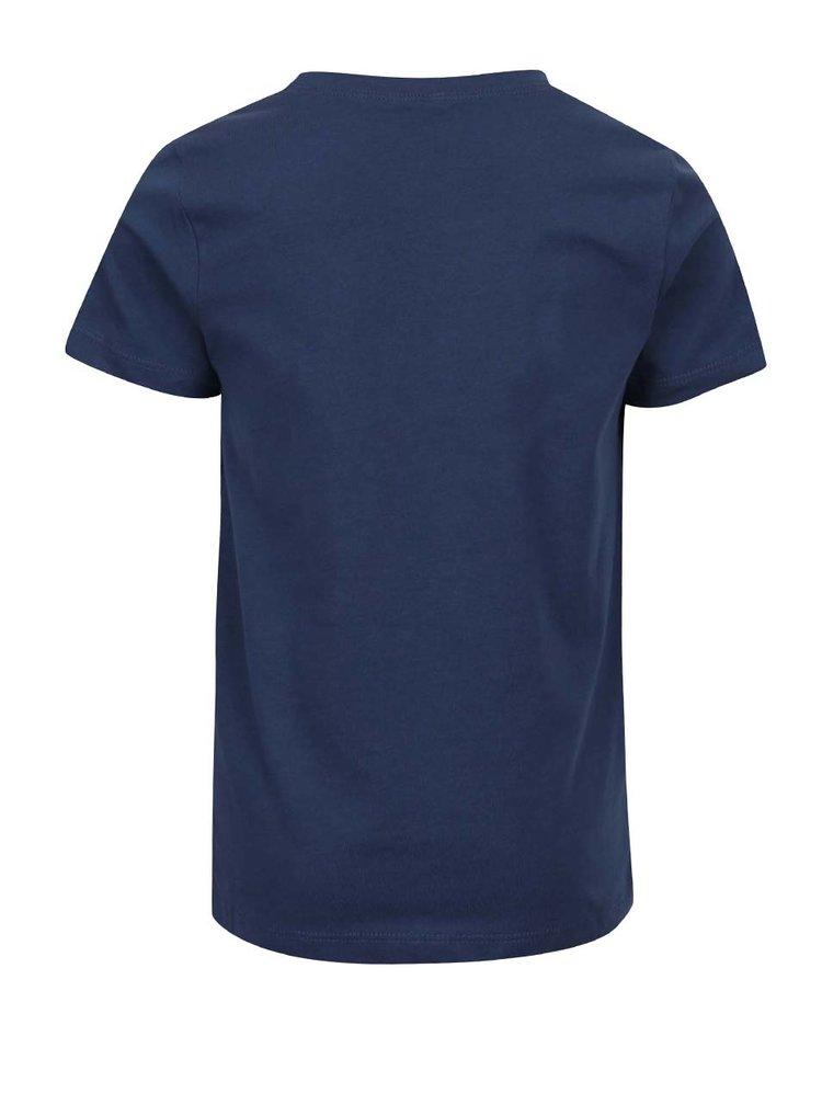 Tmavě modré klučičí triko s potiskem name it Victorhox
